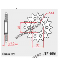 JT - Pinion (fata) JTF1591, 15 dinti - TDM900/MT-07/MT-09 Sonderzz. 102-567-15 JT Sprockets JT Sprockets Pinion 68,00lei 68,...