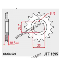 JT - Pinion (fata) JTF1595RB (garnitura cauciuc), 16 dinti - XJ6 Diversion 2009- 102-463-16-2 JT Sprockets JT Sprockets Pinio...