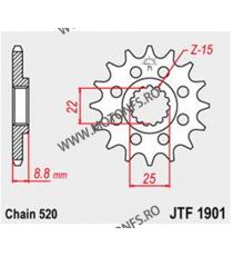 JT - Pinion (fata) JTF1901, 12 dinti - Husqv FE350 2015- 105-411-12 JT Sprockets JT Sprockets Pinion 59,00lei 59,00lei 49,5...