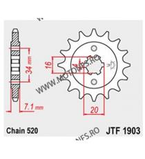 JT - Pinion (fata) JTF1903, 14 dinti - KTM Duke125/200 / RC125/200 105-425-14 JT Sprockets JT Sprockets Pinion 54,00lei 54,0...