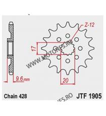 JT - Pinion (fata) JTF1905, 13 dinti - KTM SX85 Husq TC85 2018- 105-355-13 JT Sprockets JT Sprockets Pinion 59,00lei 59,00l...