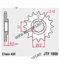 JT - Pinion (fata) JTF1906, 14 dinti - KTM SX65 2004- 105-254-14 JT Sprockets JT Sprockets Pinion 64,00lei 64,00lei 53,78l...