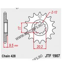 JT - Pinion (fata) JTF1907, 14 dinti - KTM SX85 2004-/ SX105/XC105 2007- 105-354-14 JT Sprockets JT Sprockets Pinion 64,00le...
