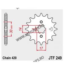 JT - Pinion (fata) JTF249, 14 dinti - ANF125 Innova 2003-2012 101-249-14 JT Sprockets JT Sprockets Pinion 25,00lei 25,00lei...