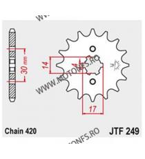 JT - Pinion (fata) JTF249, 15 dinti - 110i Wave 2012-2015 101-249-15 JT Sprockets JT Sprockets Pinion 30,00lei 30,00lei 25,...