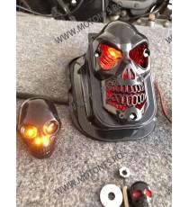 Stop cu leduri Si semnale Suport Numar LED Moto Universal Cafe Racer Cromat Chooper Bobber 2HNPL 2HNPL  Stop Universal 150,00...