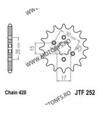 JT - Pinion (fata) JTF252, 12 dinti - MB50/MT50 Sonderzz. 101-222-12 JT Sprockets JT Sprockets Pinion 20,00lei 20,00lei 16,...