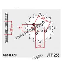 JT - Pinion (fata) JTF253, 13 dinti - MB50/MT50 101-222-13 JT Sprockets JT Sprockets Pinion 25,00lei 25,00lei 21,01lei 21,...