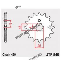 JT - Pinion (fata) JTF558RB (garnitura cauciuc), 16 dinti - Z125 / Ninja 125 2019- 102-311-16-2 JT Sprockets JT Sprockets Pin...