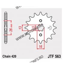 JT - Pinion (fata) JTF563, 12 dinti - FS50/RD50/RV50 105-221-12 JT Sprockets JT Sprockets Pinion 20,00lei 20,00lei 16,81le...