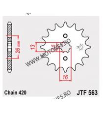 JT - Pinion (fata) JTF563, 13 dinti - FS50/RD50/RV50 105-221-13 JT Sprockets JT Sprockets Pinion 20,00lei 20,00lei 16,81le...