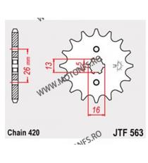 JT - Pinion (fata) JTF563, 15 dinti - FS50/RD50/RV50 105-221-15 JT Sprockets JT Sprockets Pinion 25,00lei 25,00lei 21,01le...