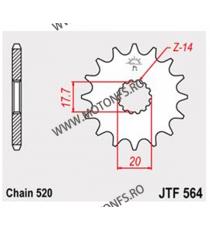 JT - Pinion (fata) JTF564, 13 dinti - YZ125 1987- 102-411-13 JT Sprockets JT Sprockets Pinion 25,00lei 25,00lei 21,01lei 2...
