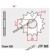 JT - Pinion (fata) JTF565RB (garnitura cauciuc), 16 dinti - XT500A-83/GS500E 2-Zyl/YZ&WR 102-461-16-2 JT Sprockets JT Sprocke...