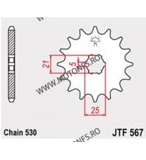 JT - Pinion (fata) JTF567, 16 dinti - XS360/400/SE, RD350LC 102-625-16 JT Sprockets JT Sprockets Pinion 64,00lei 64,00lei 5...
