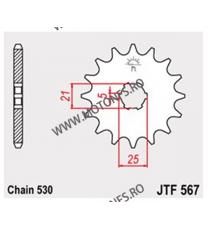 JT - Pinion (fata) JTF567, 17 dinti - RD400 -1977 102-625-17 JT Sprockets JT Sprockets Pinion 59,00lei 59,00lei 49,58lei 4...