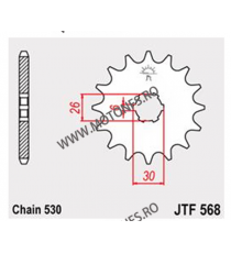 JT - Pinion (fata) JTF568, 17 dinti - XS650/650SE 102-627-17 JT Sprockets JT Sprockets Pinion 59,00lei 59,00lei 49,58lei 4...