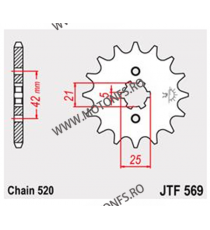 JT - Pinion (fata) JTF569, 13 dinti - KLX250/KX250-1998/KX500-2005 105-427-13 JT Sprockets JT Sprockets Pinion 39,00lei 39,0...