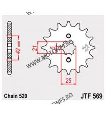 JT - Pinion (fata) JTF569, 14 dinti - KLX250/KX250-1998/KX500-2005 105-427-14 JT Sprockets JT Sprockets Pinion 39,00lei 39,0...