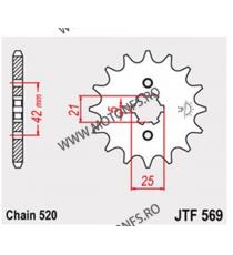 JT - Pinion (fata) JTF569, 16 dinti - SR/XT250 XV250Virago 105-427-16 JT Sprockets JT Sprockets Pinion 44,00lei 44,00lei 36...
