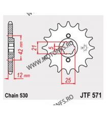 JT - Pinion (fata) JTF571, 16 dinti - XJ500/600 1984-1990 XS400 DOHC 102-626-16 JT Sprockets JT Sprockets Pinion 73,00lei 73...