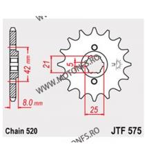 JT - Pinion (fata) JTF575, 14 dinti - TT600E -1992/TT350 102-424-14 JT Sprockets JT Sprockets Pinion 54,00lei 54,00lei 45,3...