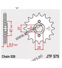 JT - Pinion (fata) JTF575, 15 dinti - XT500N/550/600/Z/ZE, SRX600 102-424-15 JT Sprockets JT Sprockets Pinion 54,00lei 54,00...