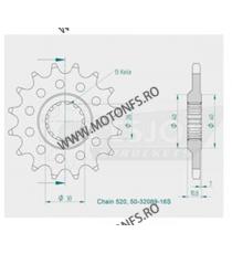 JT - Pinion (fata) JTF575, 16 dinti - XT550/600 Sonderzz. 102-424-16 JT Sprockets JT Sprockets Pinion 59,00lei 59,00lei 49,...