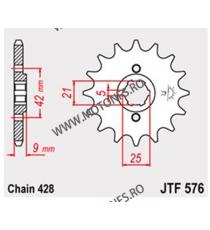 JT - Pinion (fata) JTF576, 19 dinti - XT350 102-322-19 JT Sprockets JT Sprockets Pinion 64,00lei 64,00lei 53,78lei 53,78lei