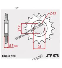 JT - Pinion (fata) JTF579, 16 dinti - YZF-R1-2003/FZS1000Fazer-2005 102-667-15 JT Sprockets JT Sprockets Pinion 68,00lei 68,...