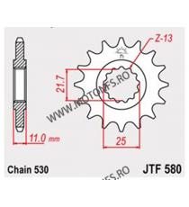 JT - Pinion (fata) JTF580, 16 dinti - FZ6 2004-/FZ750/YZF-R7 102-664-16 JT Sprockets JT Sprockets Pinion 68,00lei 68,00lei ...