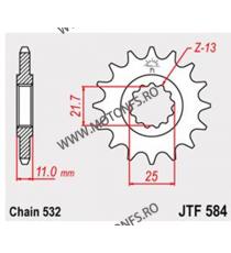 JT - Pinion (fata) JTF584, 16 dinti - FZR1000 1987+1988/YZF750/YZF-R6 102-764-16 JT Sprockets JT Sprockets Pinion 68,00lei 6...