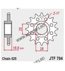 JT - Pinion (fata) JTF704, 16 dinti - Apr1000RSV/SL/RST 2001-/F800GS 105-513-16 JT Sprockets JT Sprockets Pinion 107,00lei 1...