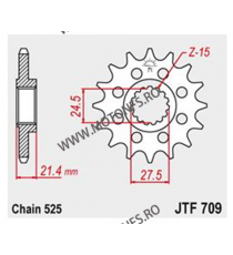 JT - Pinion (fata) JTF709, 15 dinti - Apr SL750 Shiver 105-519-17 JT Sprockets JT Sprockets Pinion 102,00lei 102,00lei 85,7...