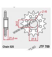 JT - Pinion (fata) JTF709, 16 dinti - Apr SL750 Shiver / Dorsoduro 105-519-16 JT Sprockets JT Sprockets Pinion 102,00lei 102...