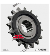 JT - Pinion (fata) JTF709RB (garnitura cauciuc), 16 dinti - Apr SL750 Shiver / Dorsoduro 105-519-16-2 JT Sprockets JT Sprocke...