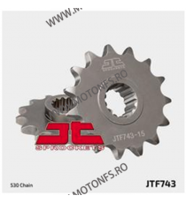 JT - Pinion (fata) JTF743RB (garnitura cauciuc), 15 dinti - Ducati Multistrada 1200 105-610-15-2 JT Sprockets JT Sprockets Pi...