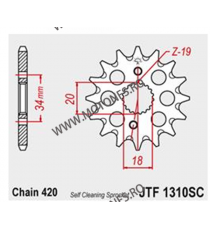 JT - Pinion MX (fata) JTF1310SC, 15 dinti - CRF150RB 2007- 100-207-15 JT Sprockets JT Sprockets Pinion 49,00lei 49,00lei 41...