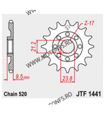 JT - Pinion MX (fata) JTF1441SC, 13 dinti - RMZ450 2005-2012 100-405-13 JT Sprockets JT Sprockets Pinion 73,00lei 73,00lei ...