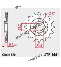 JT - Pinion MX (fata) JTF1441SC, 14 dinti - RMZ450 2005-2012 100-405-14 JT Sprockets JT Sprockets Pinion 73,00lei 73,00lei ...
