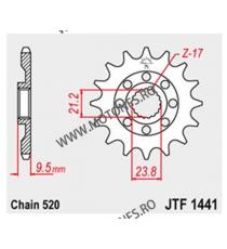 JT - Pinion MX (fata) JTF1442SC, 13 dinti - RM-Z 250 2013- 100-411-13 JT Sprockets JT Sprockets Pinion 68,00lei 68,00lei 57...