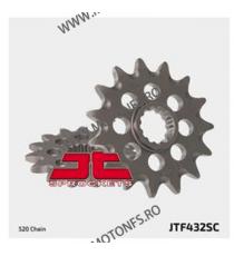 JT - Pinion MX (fata) JTF432SC, 14 dinti - DR350S/400 2000-/RM250 -2004 100-409-14 JT Sprockets JT Sprockets Pinion 68,00lei...