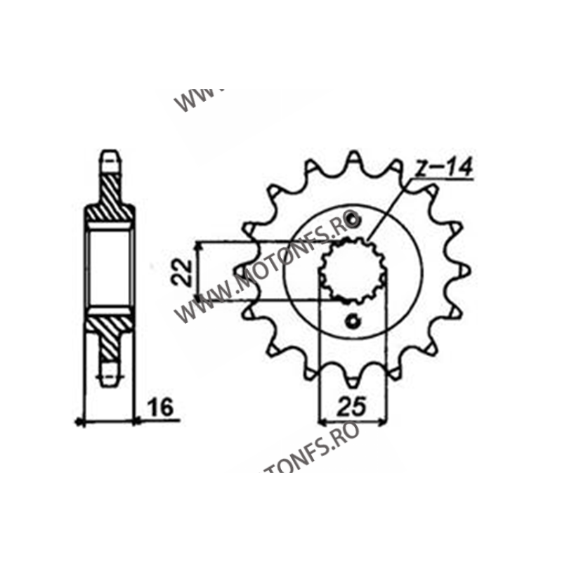 SUNSTAR - Pinion (fata) 38115, 15 dinti - Duc 900Monster i.e 2000-2002 105-415-15 SUNSTAR PINION JT Sprockets Pinion 78,00le...