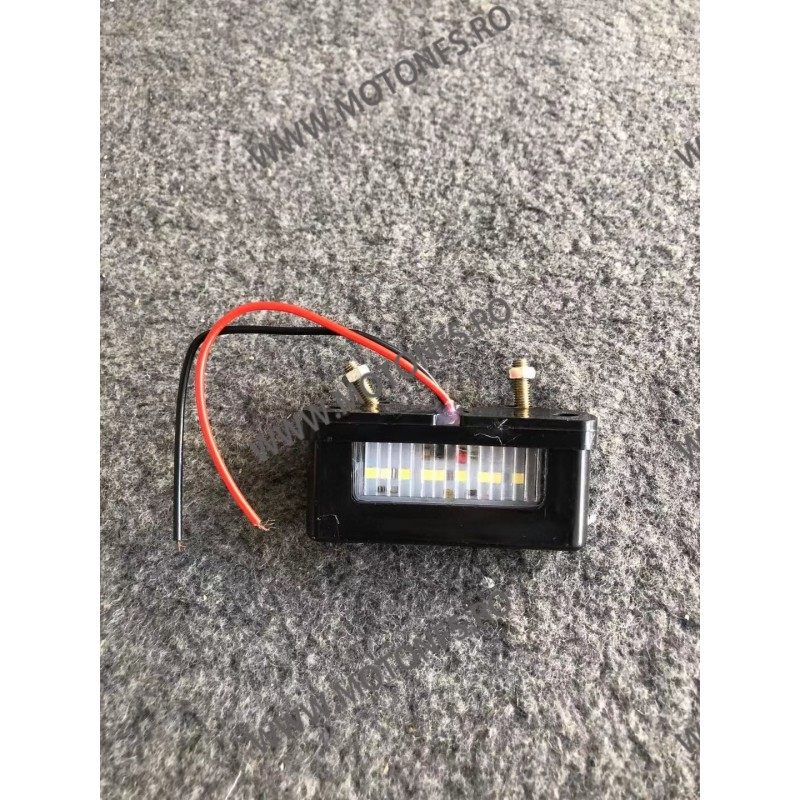 Led-uri numar / distant intre suruburi 40mm-50mm/ luminare numar / motocicleta / scuter / atv / universal Omologat ( E4) IQC3...