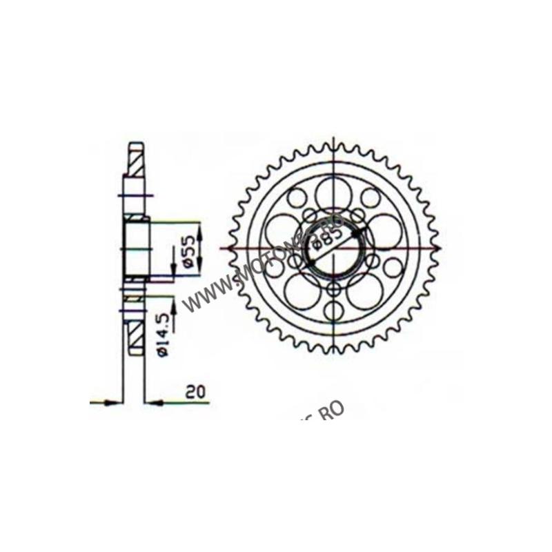 ESJOT - Foaie (spate) 50-29036, 43 dinti - Ducati MonsterS4R/Multistrad 115-505-43  ESJOT Foi spate 296,00lei 296,00lei 248...