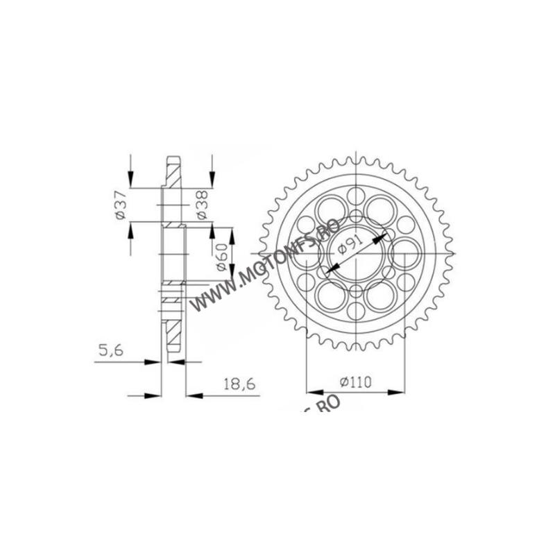 ESJOT - Foaie (spate) 50-29050, 38 dinti - KTM 1290 Superduke 2014- 115-580-38  ESJOT Foi spate 102,00lei 102,00lei 85,71l...