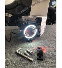 125W 12V Motocicleta faruri 3000LM moto reflectorul U7 LED-uri de conducere de ceață Spot Head Light Lampă decorative D1101  ...