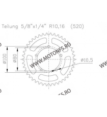 ESJOT - Foaie (spate) Aluminiu 51-32124, 44 dinti - BMW S1000RR Racing Felge 110-458-44  ESJOT Foi spate 156,00lei 156,00le...