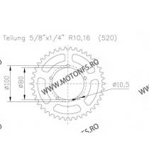 ESJOT - Foaie (spate) Aluminiu 51-32124, 45 dinti - BMW S1000RR Racing Felge 110-458-45  ESJOT Foi spate 156,00lei 156,00le...