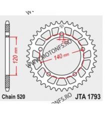 JT - Foaie (spate) Aluminiu JTA1793, 45 dinti - GSXR600/750/1000 2001- 110-452-45  JT Foi Spate 175,00lei 175,00lei 147,06...